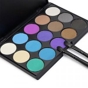 Trusa machiaj 15 culori profesionala paleta farduri cosmetice profesionale