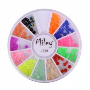 Carusel multicolor decor unghii AJ210