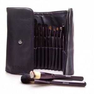 Set 21 pensule machiaj make up profesionale par natural cu borseta dubla