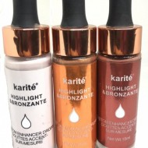 Set iluminator highlighter bronzer si Blush lichid picatura Karite