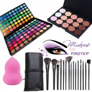 Trusa machiaj 120 nuante + Fond de ten corector + 15 pensule make up NARS