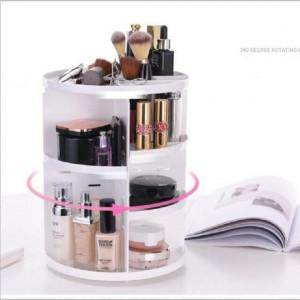 Organizator cutie depozitare produse cosmetice  alb
