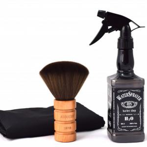 Set accesorii frizerie Ardette model Vigio 3 piese cu pelerina pentru tuns, pulverizator si pamatuf barber shop