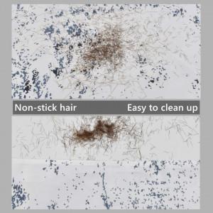 Set foarfeca de tuns frizerie coafor Dapper cu pelerina barber brici metalic 10 lame otel suedez si etui