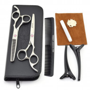 Set profesional foarfeca de tuns si filat Ardette model Opax03 cu gentuta si piepten carbon pentru frizerie salon coafor