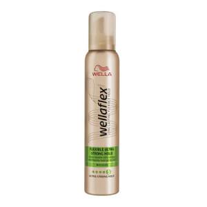 Spuma de par Wella Wellaflex Flexible Hold Ultra Strong pentru fixare foarte puternica, 200 ml