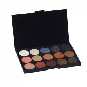 Trusa machiaj profesionala 15 culori Naturale Nude paleta farduri cosmetice