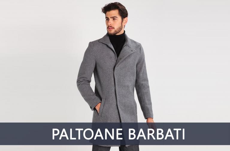 geci paltoane barbati toamna iarna lana slim fit regular fit