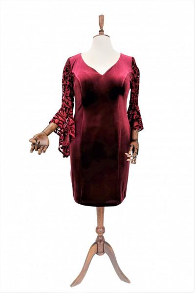 Rochie de ocazie din catifea bordo