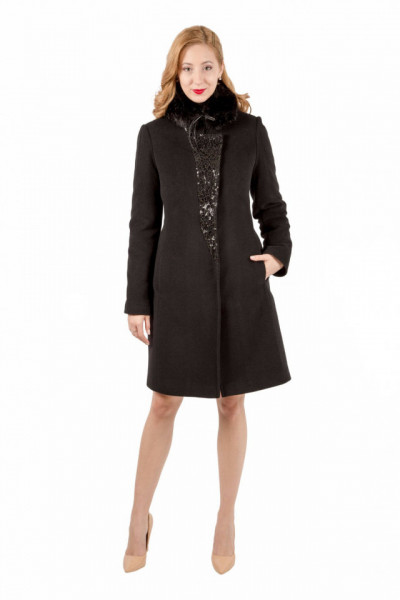 Mantou negru din lana