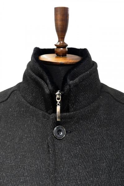 Palton cu guler de balna barbati