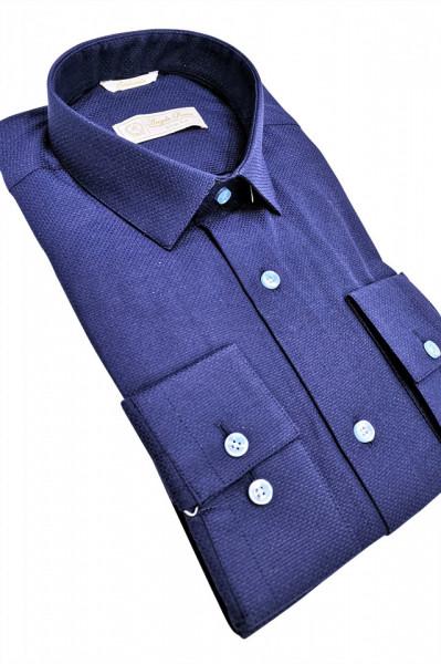 camasa slim fit bleumarin