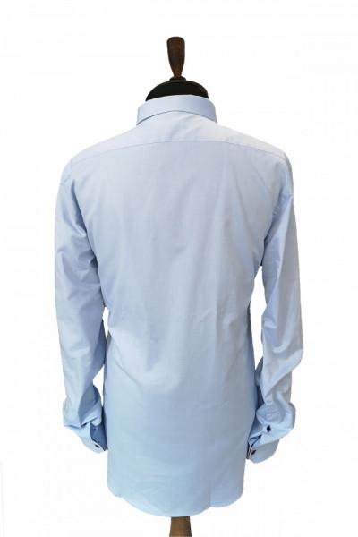 Camasa bleu slim fit Alderano