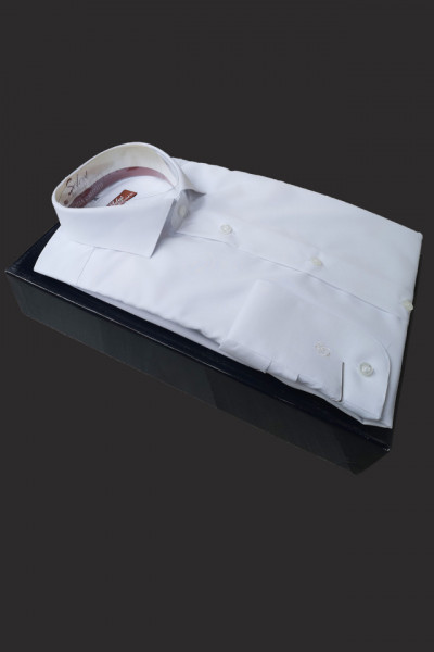 camasa slim fit alba