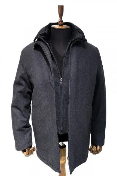 Palton gri inchis barbati