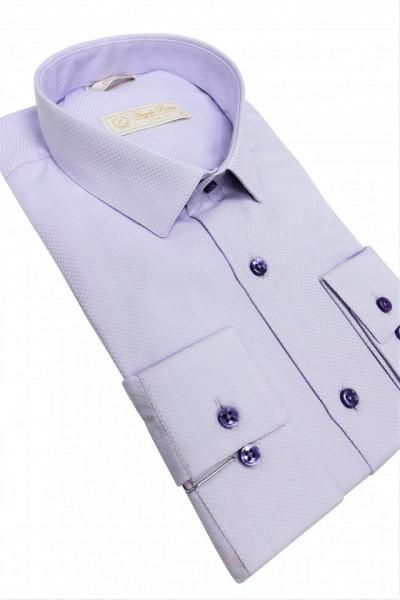 camasa slim fit lila