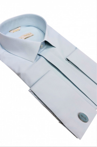 Camasa bleu pentru butoni