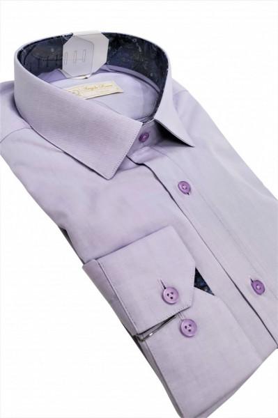camasa clasica lila