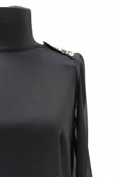 Bluza neagra din voal femei
