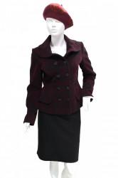 Jacheta din catifea bordo-negru Samantha