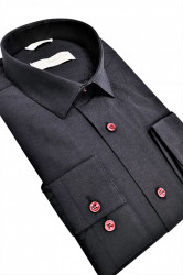 Camasa neagra slim fit Massimo
