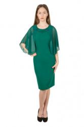 Rochie verde cu maneci de voal Nadine