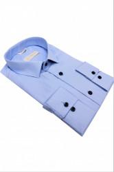 camasa slim fit bleu