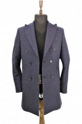 Palton bleumarin barbati