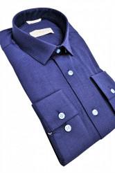 Camasa bleumarin slim fit Marcantonio