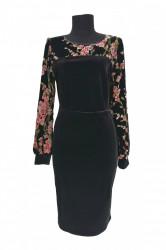 Rochie de seara din catifea elastica neagra Lily