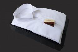 Camasa alba de butoni cu guler pentru papion Amadeo