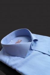camasa slim fit bleu texturat