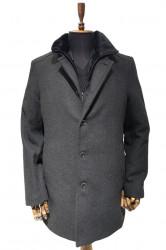 Palton barbati cu guler de blana Owen