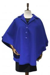 Palton - Pelerina femei Isabella (albastru)