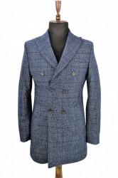 Palton slim fit albastru Alexander