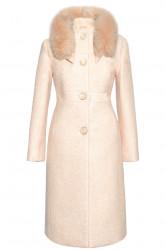 Palton crem cu blana naturala (Annabel)