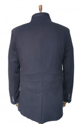 Palton slim fit bleumarin barbati