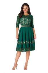 Rochie eleganta cu dantela verde Elizabeth