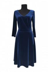 Rochie de seara din catifea albastra Luna