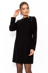 Mantou elegant negru
