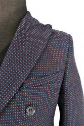 Palton bleumarin barbati-detaliu