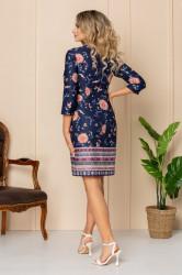 Rochie de zi bleumarin