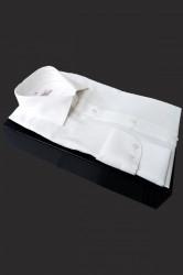 Camasa alb texturat slim fit Arnaldo