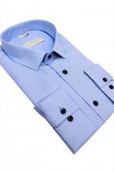 Camasa bleu slim fit Martino
