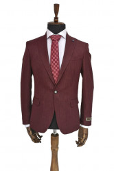 Sacou slim fit Burgundy Julian