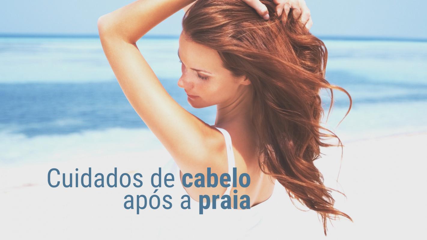 Cuidados de cabelo após a praia