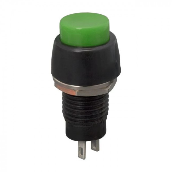 Buton 1 circuit 2A-250V OFF-(ON), verde