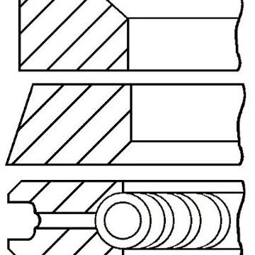 GOETZE ENGINE Set segmenti piston