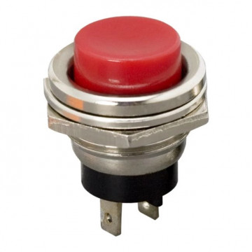 Buton 1 circuit 2A-250V OFF-(ON), rosu