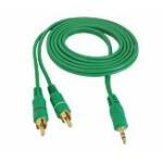 Cablu jack 3,5mm la 2RCA 1,5m verde